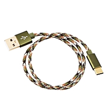 Type C Braided Data Sync Charging USB 3.1 Cable 0.5M Camouflage