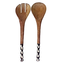 Wooden Serving Spoons - 2 Spoons