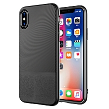 Anti fingerprint Leather Pattern Soft TPU Protective Case for iPhone X