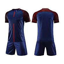 Customized Men's World Cup Football Soccer Team Training Sports Jersey Set-Navy Blue