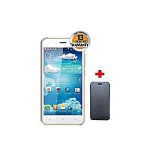"V10 - 5.0"" - 8GB - 5MP - Dual SIM - White + Free Flip Cover - White"