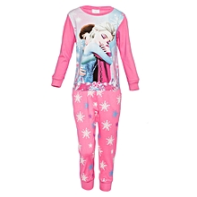 Pink Long Sleeved Girls Pajama Set with Frozen Print