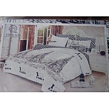 White and Black Duvet Cover Set