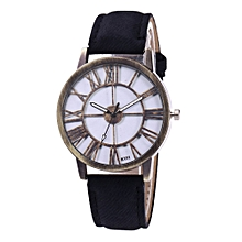 Watch Fashion Women's Watch Silicone Printed Flower Causal Quartz Analog Wrist Watches-black