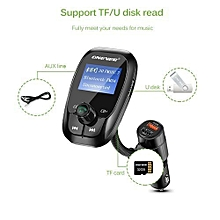 FM Transmitter Quick Charge 3.0 Car Charger Bluetooth Hands Free Car Kit Radio Modulator Audio MP3 Player USB/TF Drive