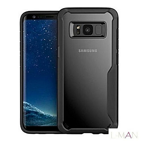 best authentic 53ec1 a2251 Samsung Galaxy S8 Back Cover- Rubberized Clear Case - Black
