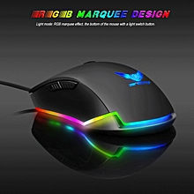 ZERODATE S600 High Performance Gaming Mouse Professional RGB Mechanical Mouse Adjustable Wrist Support for Windows XP Win 7 Win 8 iOS WWD