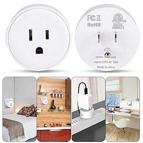 Minxin Mini WiFi Wireless Switch Timer Remote & Voice Control Outlet Smart  Power Socket US Plug