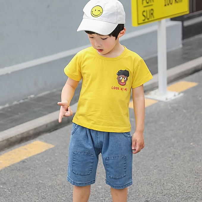 Boy's Clothing 100 take summer clothes the-Blue