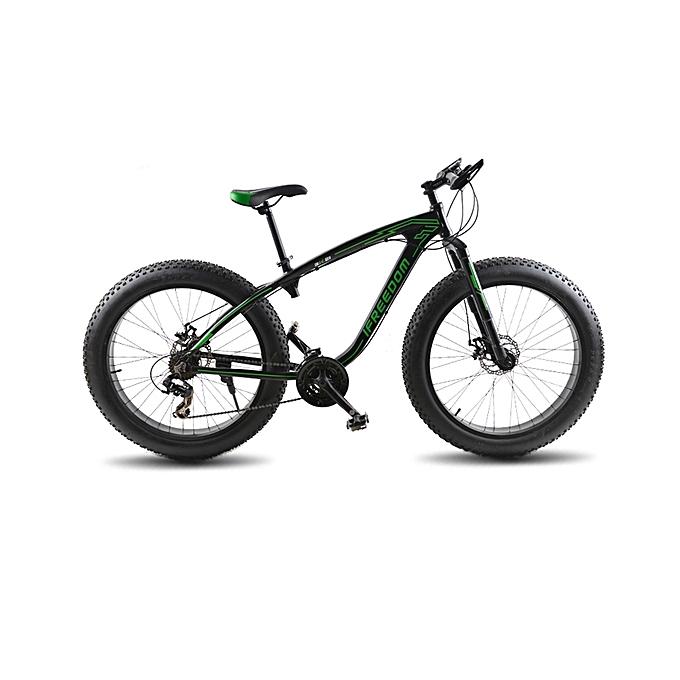 "Exercise Bike Jumia Kenya: Buy Ifreedom 26"" 21 Speed Black Green Fat Tire Mountain"