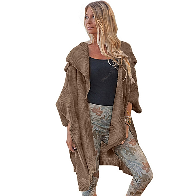 a8eee4d0d44d Africanmall store Women Long Sleeve Oversized Loose Knitted Sweater Cardigan  Outwear Coat -Khaki