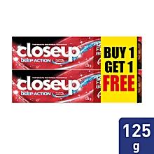 BOGOF Close Up Toothpaste Deep Action Red Hot Gel 125g