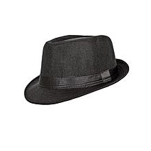 Black Soft Fedora Panama Unisex Straw Classic Woven Hat