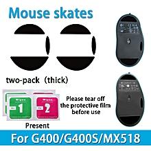 2 sets Teflon 0.6mm 3M Mouse Feet mouse Skates for Logitech G400 G400s MX518 Mouse