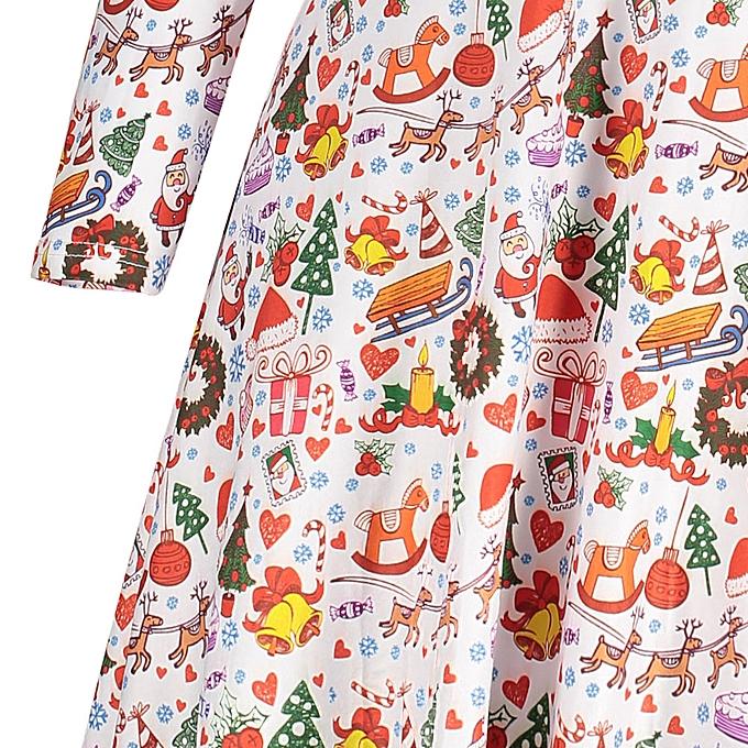 c4206ecaf381 Fashion Plus Size Cute Christmas Tee Dress @ Best Price   Jumia Kenya