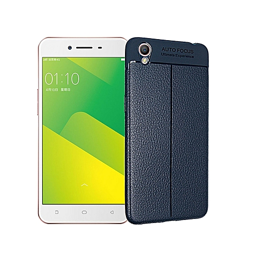 the latest b18ea 97dbe Litchi Grain PU Leather TPU Phone Case For Oppo A37 / A37m 5.0