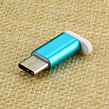 USB-C Type-C to Micro USB Data Charging Adapter For Samsung S8 For Oneplus 5-Blue