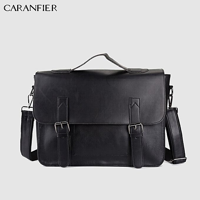 e89cb196b83a CARANFIER Mens Briefcase PU Leather Shoulder Crossbody Bag Large Capacity  Computer Bags Fashion Messenger Bag Male Tote Handbags(Brown)