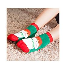 Child Christmas Soft Thickening Socks - Green