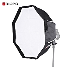 TRIOPO 65cm Foldable 8-Pole Octagon Softbox with Soft Cloth Handle for Godox Yongnuo Andoer On-camera Flash Light