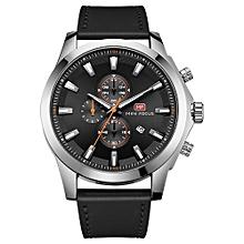 Fashion  Leather Men Sport Watch 3ATM Water-resistant Quartz Luminous Wristwatch Man Relogio Musculino Chronograph