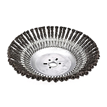 350*30mm Rotary Weed Brush Steel Flat Wire Wheel Bench Grinder Polish