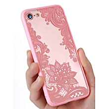 Phone Case Lace Flower Pattern Sweet Sexy Transparent For Iphone5/5S/5SE/6/6Plus/6/6S/7/7Plus____IPHONE 7____white