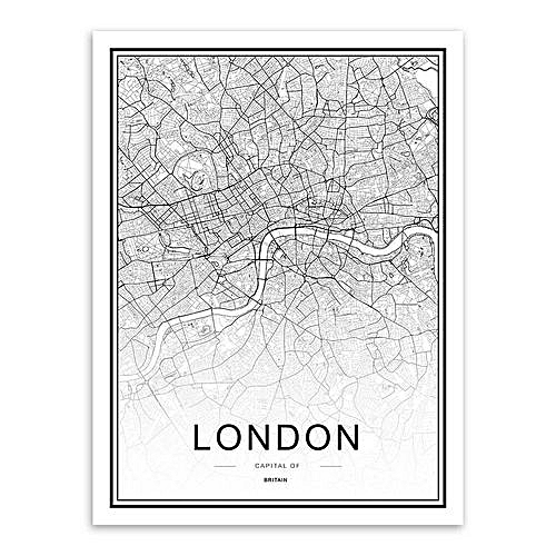 Map Of New York Poster.World City Map London Paris New York Poster Nordic Home Deco Art Canvas Painting London Framed