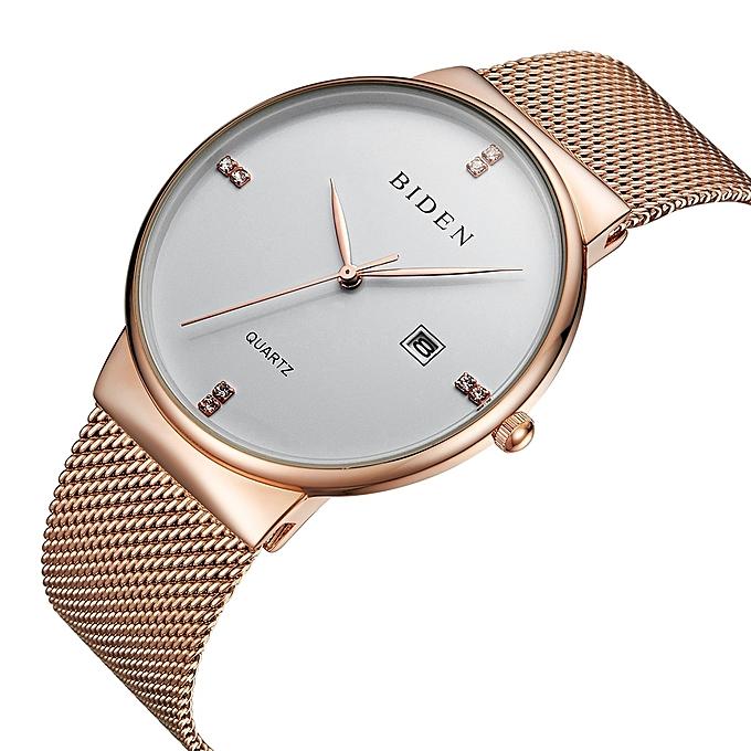 ff2729ebda4 Fashion Simple Stylish Watches Men Stainless Steel Mesh Strap Thin Dial Clock  Man Casual Quartz-