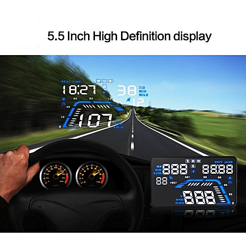 5 5 Inch Auto GPS HUD Car Head up Display Speed Projector on the Windshield  Digital Speedometer Display on-Board Computer