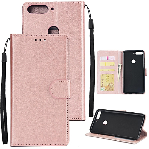 huge discount 661ab c2fb7 Pretty PU Cell Phone Case Protective Leather Cover With Buckle & 3 Card  Position For Honor 7C/Y7 2018 286537 c-1 (Color:Main Picture)