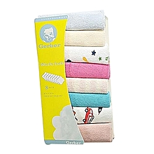 8Pcs Assorted colors Infant Newborn Bath Towel,Wash cloth-Color May Vary