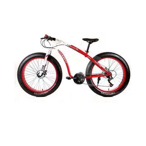 "Exercise Bike Jumia Kenya: Shimano 26"" 21 Speed White Red Fat Tire Mountain Bike"