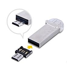 Super Mini USB Flash U Disk OTG Converter Adapter For Samsung/HuaWei/Xiaomi/HTC - Black & Silver