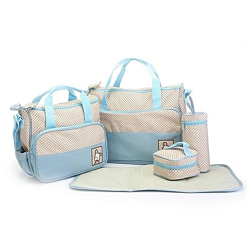 7cbf724f5d Generic 5Pcs Set Waterproof Mummy Baby Diaper Nappy Changing Mat Pad  Organizer Tote Bags