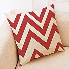 Home Decor Cushion Cover Red Geometric Throw Pillowcase Pillow Covers