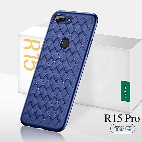 the best attitude ad1c4 9cb9f For OPPO R15 Pro Fashion Weave Case Luxury Phone Back Cover For Oppo R15  Pro Case Soft Weaving Housing Shell 985870 c-0 (Color:Main Picture)