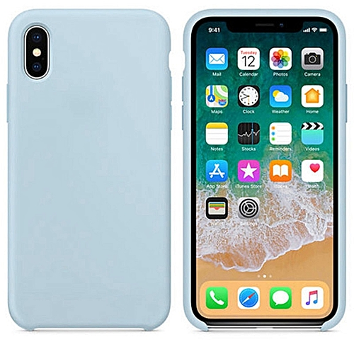 new products 77269 6780b for iPhone 7 8 Plus phone case Have LOGO Official Style Silicone Case For  apple Cover Capa-Skyblue