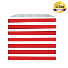 Moment Stripes Red Serviettes/Napkins -1 Pack