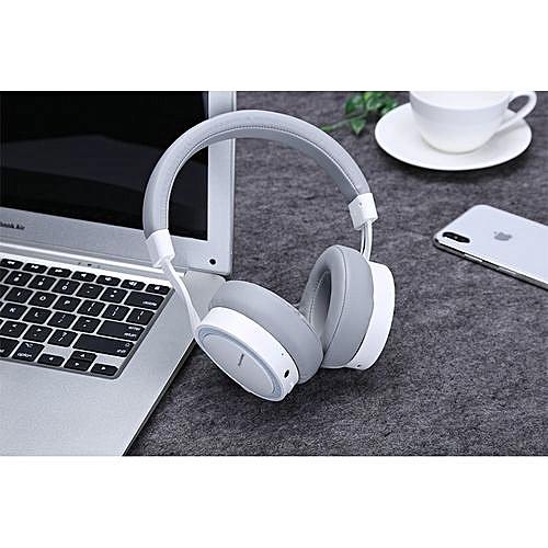 PLEXTONE BT270 Wireless HIFI Headphones Handsfree Bluetooth Headphone Bass Stereo Headset with Mic for Mobile phone- white