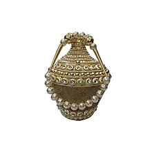 Conical Metal Batwa with Brocade Base - Dark Gold