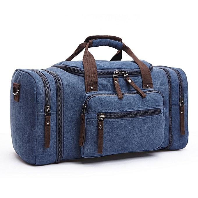 Unisex casual outdoor travel canvas handbag multi-function large capacity  duffle bag weekender bag f432fa621e2c2