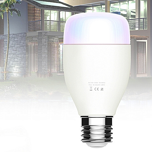 Voice Smart Light Bulb LED Mobile Phone WiFi Remote Control Energy Saving  Dimming Bulb - White