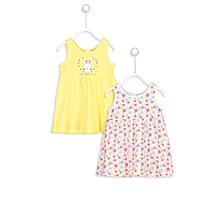 Yellow and Polka Fashionable Dress Set