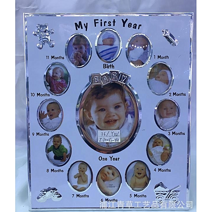 Buy Generic My First Year Baby Photo Frame Set Newborn Babys 12