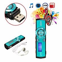 Digital LCD USB Mp3 Music Player FM Radio For 4/8/16GB Micro SD/TF Card Earphone Blue-intl