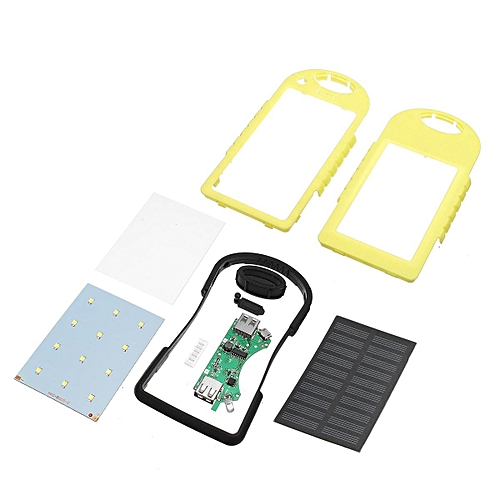 info for bfa3f 08f5d 4 Colors 5000mAh Solar Power Bank Dual 2 USB Waterproof Portable Charger  Case(yellow)