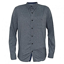 Grey Men's Long Sleeved Casual Shirts