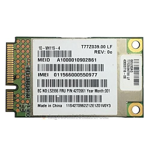 GOBI1000 42T0961 UNDP-1 3G PCI-E WWAN Card for IBM Thinkpad X200 T400 T500  W500 L410 L510 R400 R500 X200S TABLET X301