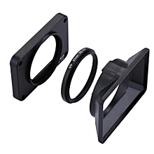 PULUZ PU319 Aluminum Alloy Protective Front Panel 37mm UV Filter Lens for Sony RX0 with Sunshade